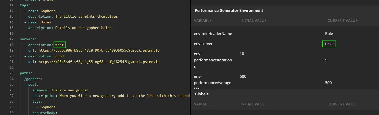 env-server configuration
